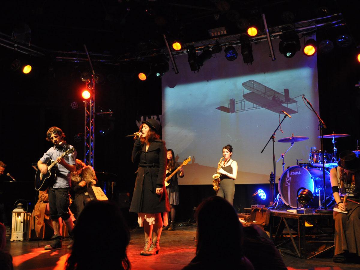 Felice & Cortes mit Band